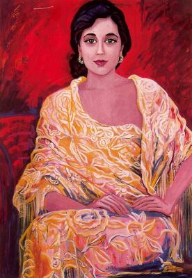 Франциска Муньос. Сидящая женщина