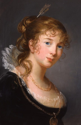 Elizabeth Vigee Le Brun. Portrait of Princess Louise of Prussia