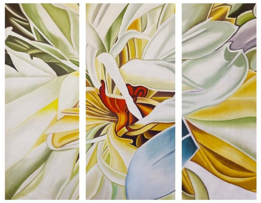 (no name). Gentle lily. Triptych