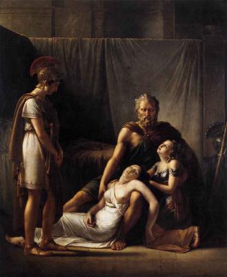 Франс Йозеф Кинсон. Смерть жены Велизария