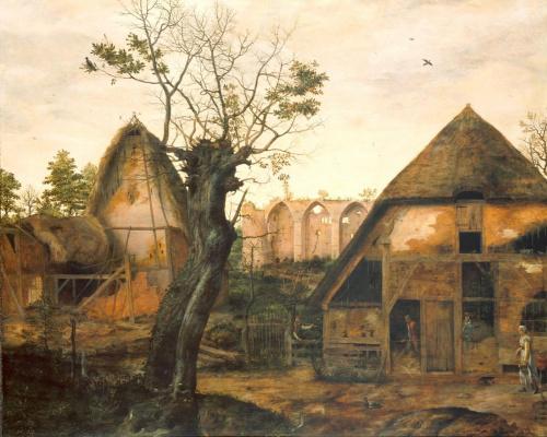 Корнелис Ван Далем. Пейзаж с фермой