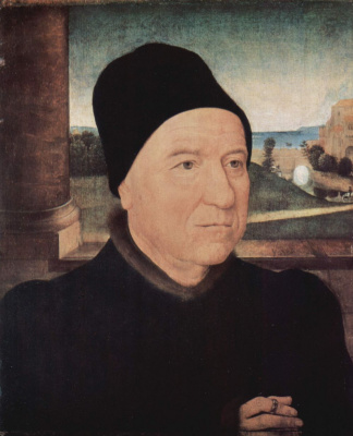 Hans Memling. Portrait of an elderly man