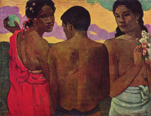 Paul Gauguin. Three Tahitians