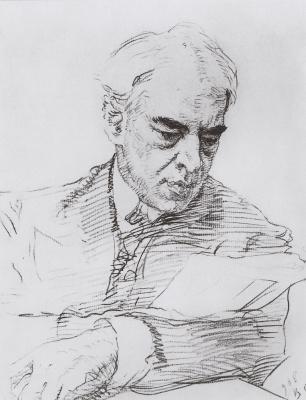 Валентин Александрович Серов. Портрет К.С. Станиславского