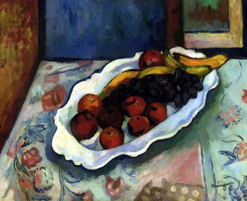 Henri Manguin. A plate of apples