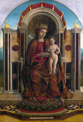 Gentile Bellini. Virgin with child enthroned