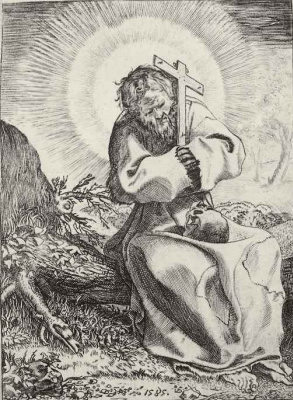 Annibale Carracci. St. Francis