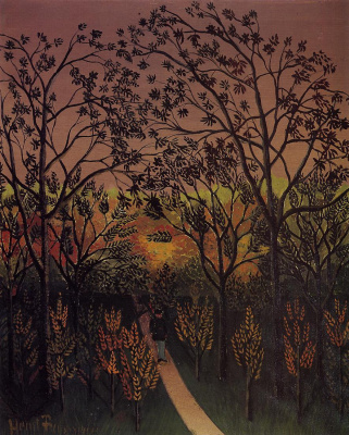 Henri Rousseau. The angle of the plateau of Bellevue