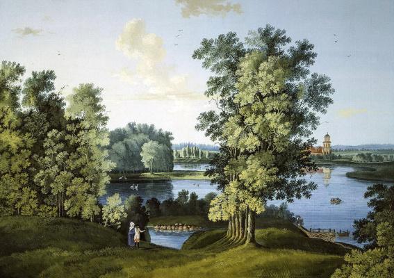 Семен Федорович Щедрин. Вид Большого пруда в Царскосельском парке