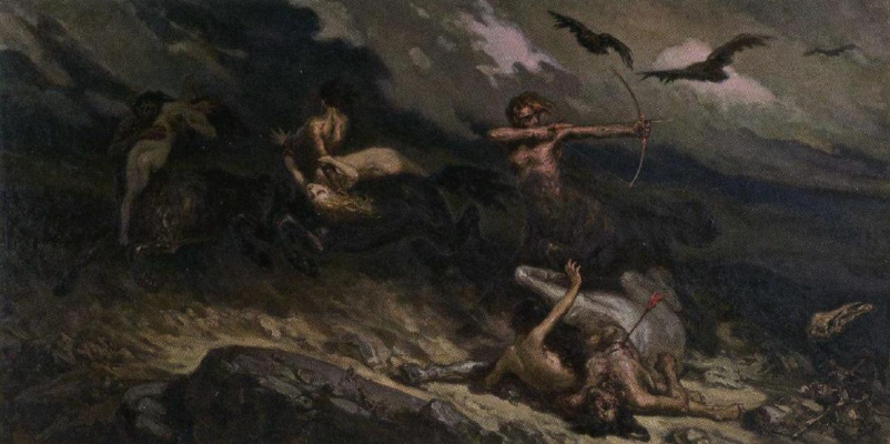 Wilhelm Kotarbinsky. Battle of the centaurs with the lapiths