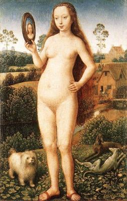 Ганс Мемлинг. Триптих земной, тщеславие и божественной. Фрагмент центральной панели
