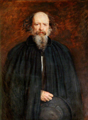 John Everett Millais. Portrait of Lord Alfred Tennyson, 1st Baron Tennyson