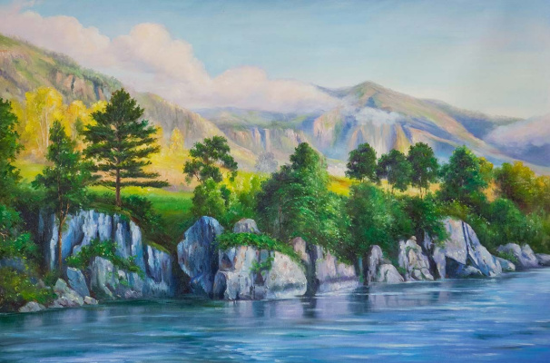 "Alexander Romm. Oil painting ""His Altai"""