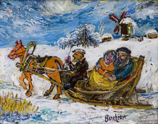 David Davidovich Burliuk. Winter walk