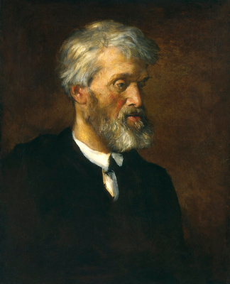 George Frederick Watts. Portrait of the writer Thomas Carlyle