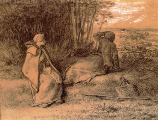 Jean-François Millet. Shepherds in the shade