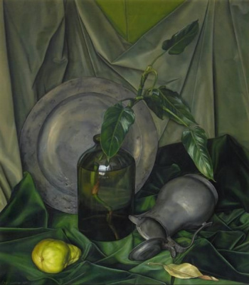 Luigi Lucioni. Green and grey