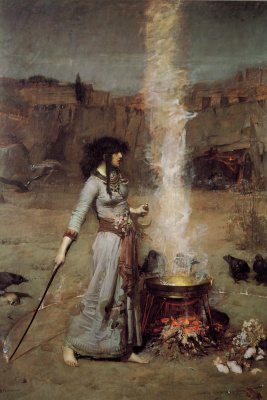 John William Waterhouse. The magic circle