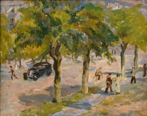 """Nikolai Andreevich Shelyuto. """"The street"""". 1937."""