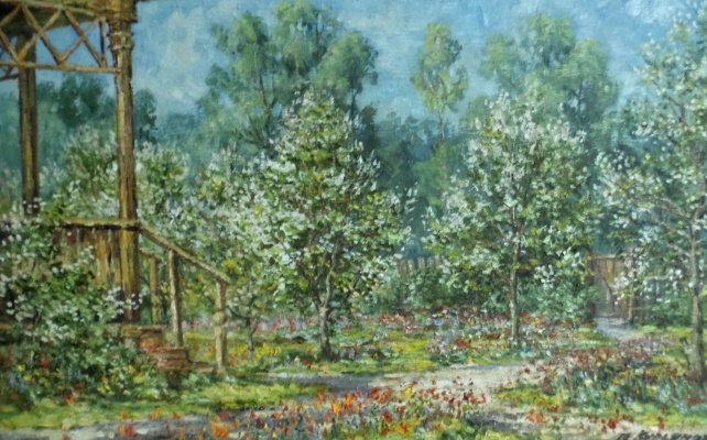 Victor Vladimirovich Kuryanov. The whole garden is in bloom