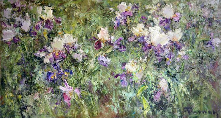 Tuman Art Gallery Tumana Zhumabayeva. Irises