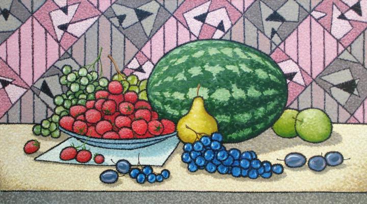 Yuri Vladimirovich Sizonenko. Still life with a watermelon.