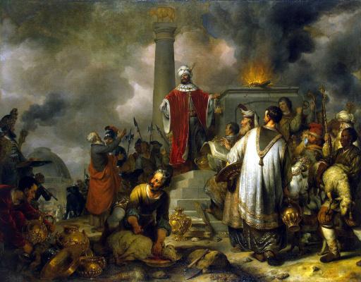 Гербранд Янс ван ден Экхаут. Жертвоприношение Иеровоама в Вефиле