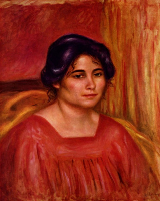 Pierre-Auguste Renoir. Gabrielle in a red blouse