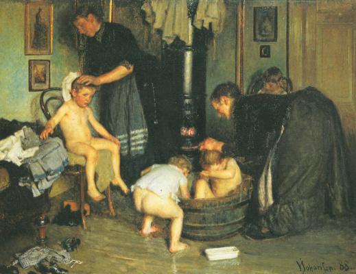 Вигго Юхансен. Купание детей