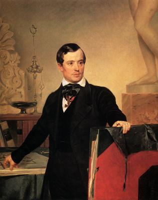 Karl Pavlovich Bryullov. Portrait of the architect and artist Alexander Briullov