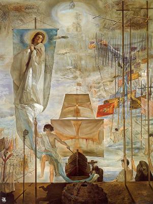 Сальвадор Дали. Открытие Америки усилием сна Христофора Колумба