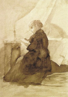 Мария Константиновна Башкирцева. Woman with a book
