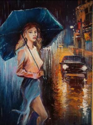 Samson Hakobyan. Girl and rain