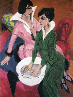 Ernst Ludwig Kirchner. Two women