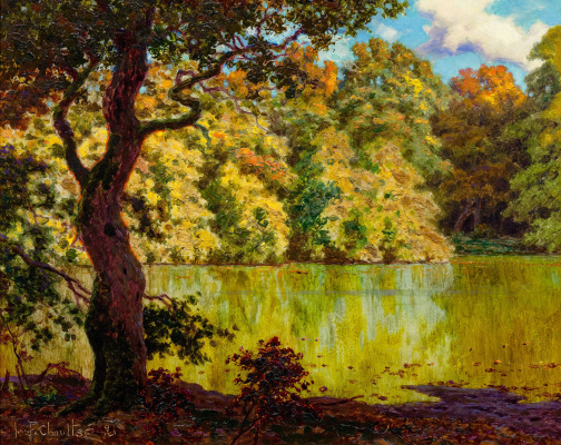 Ivan Fedorovich Schultze. Landscape with a lake