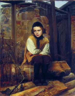 Ivan Nikolayevich Kramskoy. Insulted Jewish boy