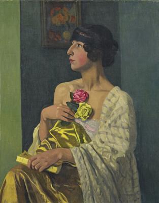 Felix Vallotton. Woman with roses