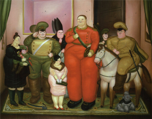 Fernando Botero. Official portrait of the military junta