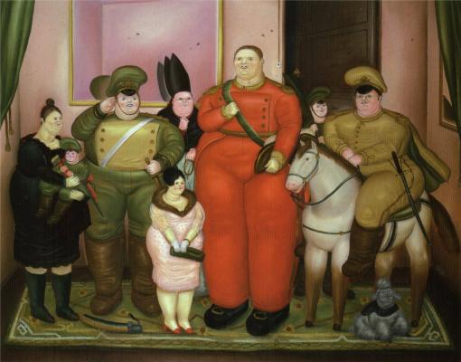 Fernando Botero. Official portrait of the military junta