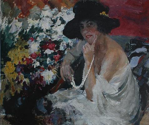 Pavel Petrovich Benkov. Portrait of Dulskaya Lyudmila Petrovna