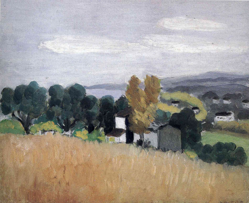 Henri Matisse. House on the field