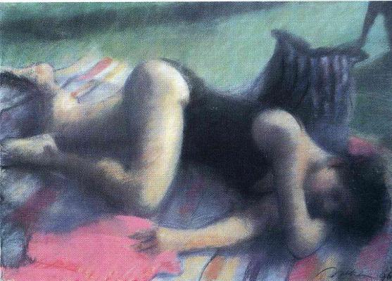 Билл Жаклин. Девушка лежит на полу