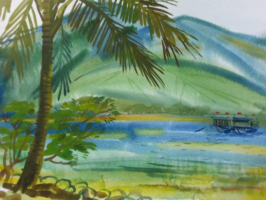 "Natalia Gennadievna Torlopova. Series ""Tropical island"" 5"