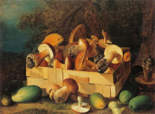 Ivan Fomich (Trofimovich) Khrutsky. Mushrooms and vegetables