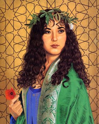 Хуан Вижнгаард. Девушка с цветком
