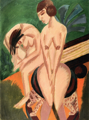 Ernst Ludwig Kirchner. Two Nudes