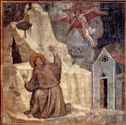 Giotto di Bondone. Stigmatization of St. Francis. Scenes from the life of St. Francis