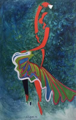Anna Mikhailovna Lavrova. Dance