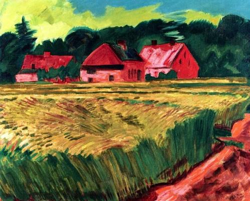 Max Pehshtein. Farm and wheat field