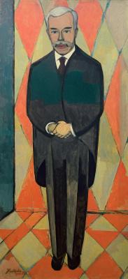 Christian Cornelius Crown. Portrait S.I. Shchukin (in growth)